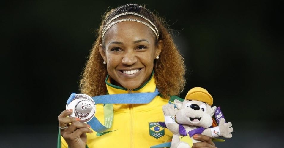 Keila Costa levou medalha de prata no salto triplo dos Jogos Pan-Americanos de Toronto