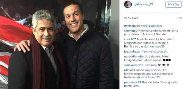 d90d13c343 Julio César renova contrato com o Benfica por dois anos - Esporte ...
