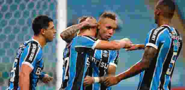 O Grêmio usa a força local como base para sua boa campanha no Brasileirão - Lucas Uebel/Gremio FBPA
