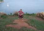 Desafiante ao cinturão de brasileira dá show de dança em ilha paradisíaca - Reprodução