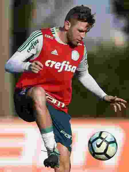 Fabiano durante treino do Palmeiras - Cesar Greco/Ag. Palmeiras