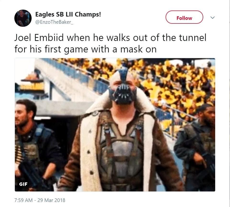Torcedores comparam máscara de jogador de basquete com a usada por Bane em  Batman 17bd028bb8fdb