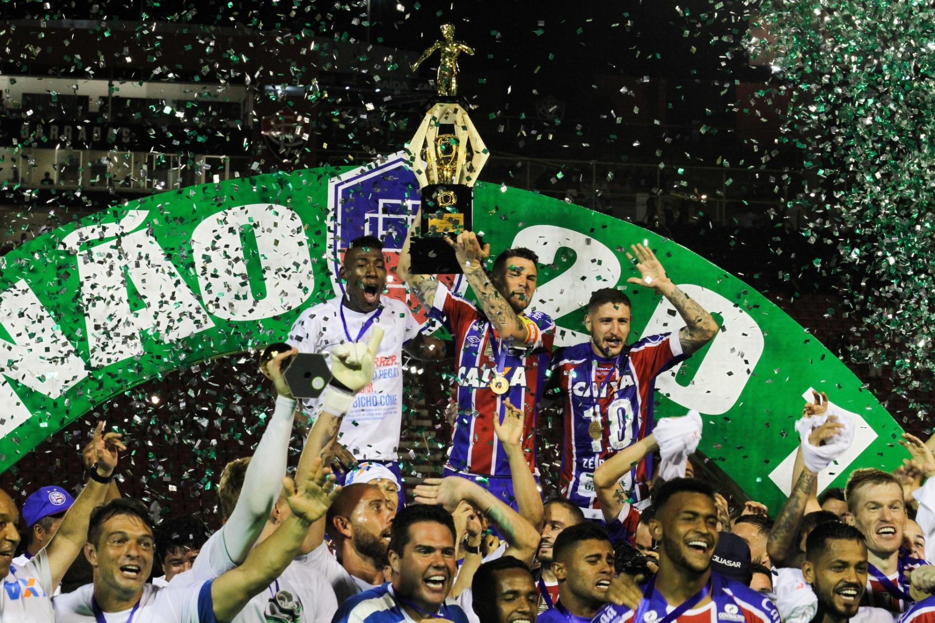 86c939eb3b Bahia bate o Vitória no Barradão e conquista o título baiano de 2018 -  08 04 2018 - UOL Esporte