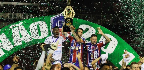 91dba20625a80 Bahia bate o Vitória no Barradão e conquista o título baiano de 2018 ...
