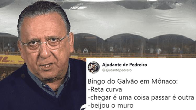 Bordões de Galvão Bueno no GP de Mônaco - Reprodução - Reprodução