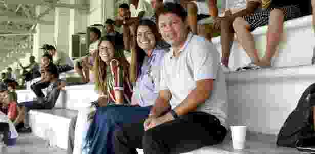 Iranildo e família nas Laranjeiras - Mailson Santana/Fluminense - Mailson Santana/Fluminense