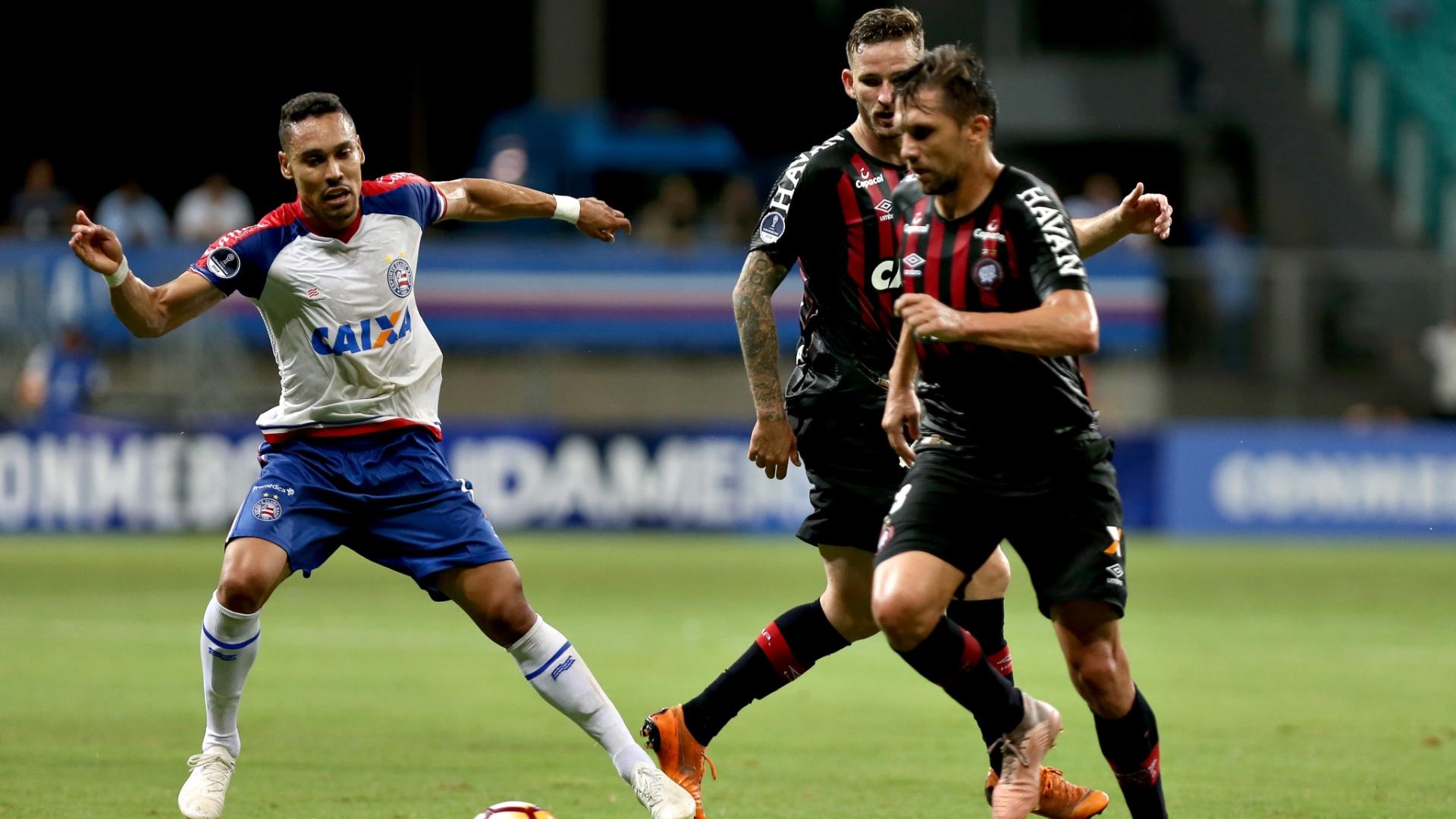 Paulo André, durante jogo entre Bahia e Atlético-PR