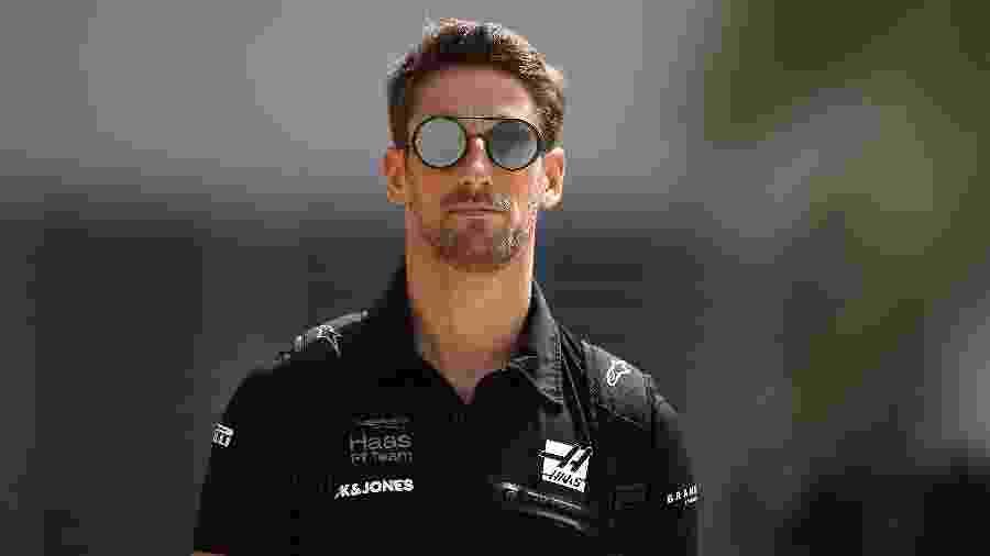 Romain Grosjean, piloto da Haas na Fórmula 1 - Clive Mason/Getty Images