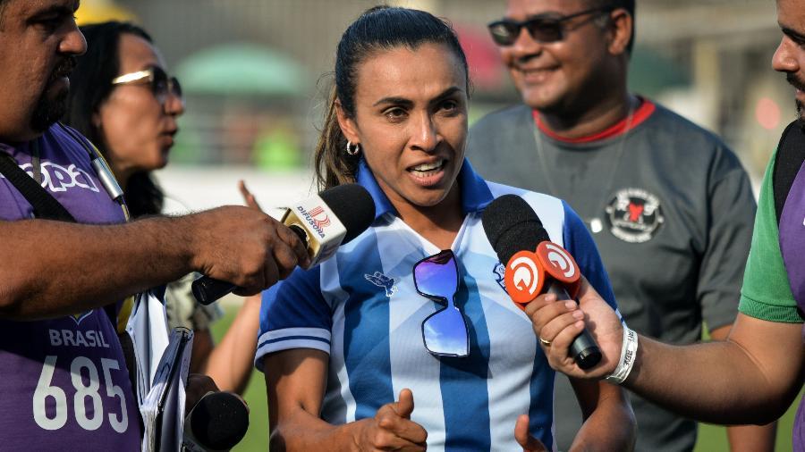 Marta no Estádio Rei Pelé durante empate do CSA com o Palmeiras - Bruno Fernandes/Jornal Extra de Alagoas