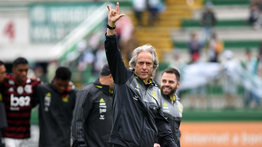 Jorge Jesus, técnico do Flamengo, foi denunciado pelo STJD  - Renato Padilha/AGIF