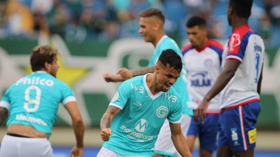 Michael comemora gol do Goiás contra o Bahia - Heber Gomes/AGIF
