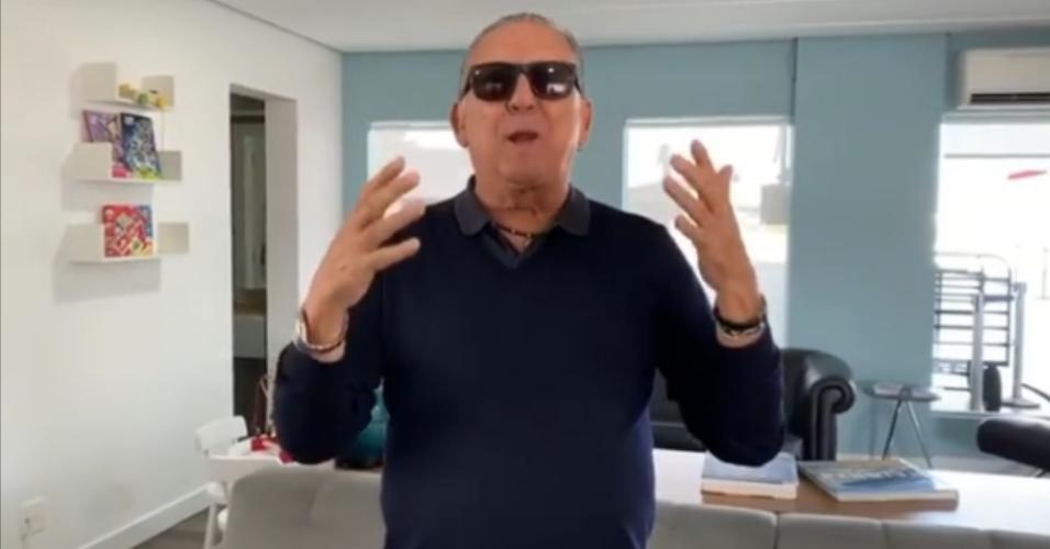 Galvão Bueno gravou vídeo para agradecer mensagens de carinho