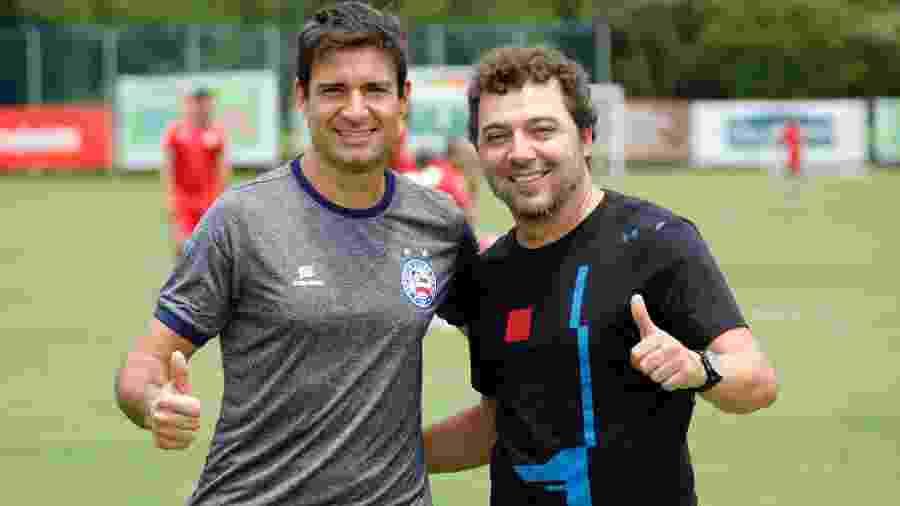 Diego Cerri (esq.) despertou o interesse do Palmeiras para o cargo de diretor de futebol - Felipe Oliveira / EC Bahia