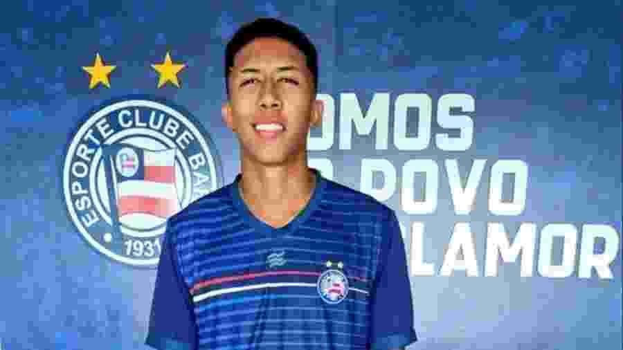 Matheus Saldanha, do Bahia - reprodução / Twitter