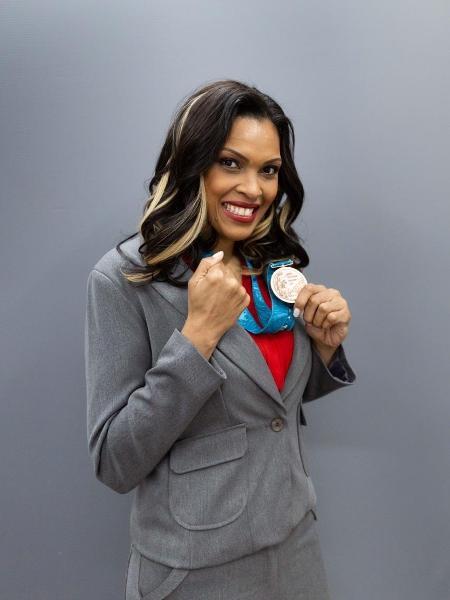 Kelly Santos Müller, ex-jogadora seleção brasileira de basquete, medalhista olímpica - Divulgação/Wander Roberto