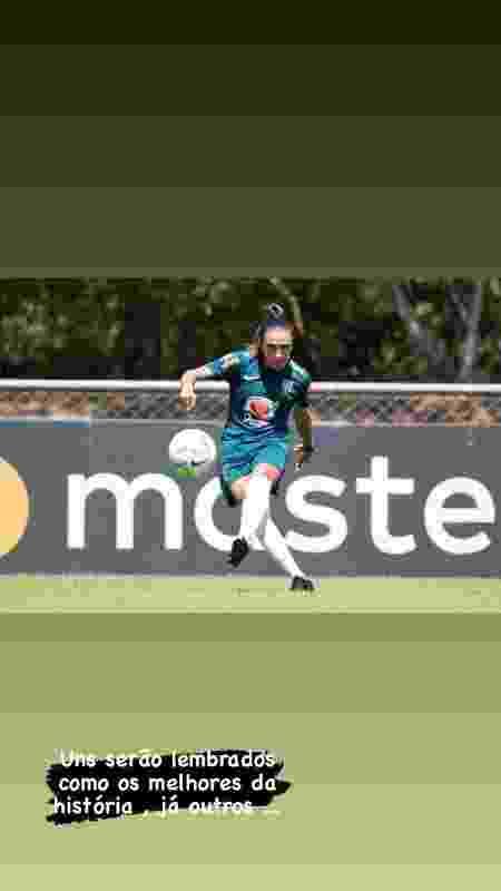 Marta publicou foto em que aparece em um treinamento da seleção brasileira - Reprodução/Instagram - Reprodução/Instagram