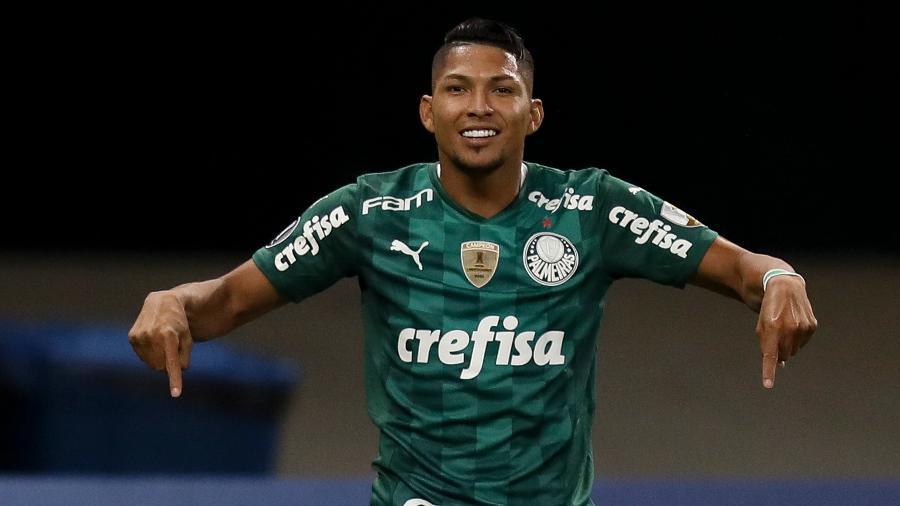Rony comemora o gol do Palmeiras contra o Independiente del Valle - Divulgação/ Conmebol