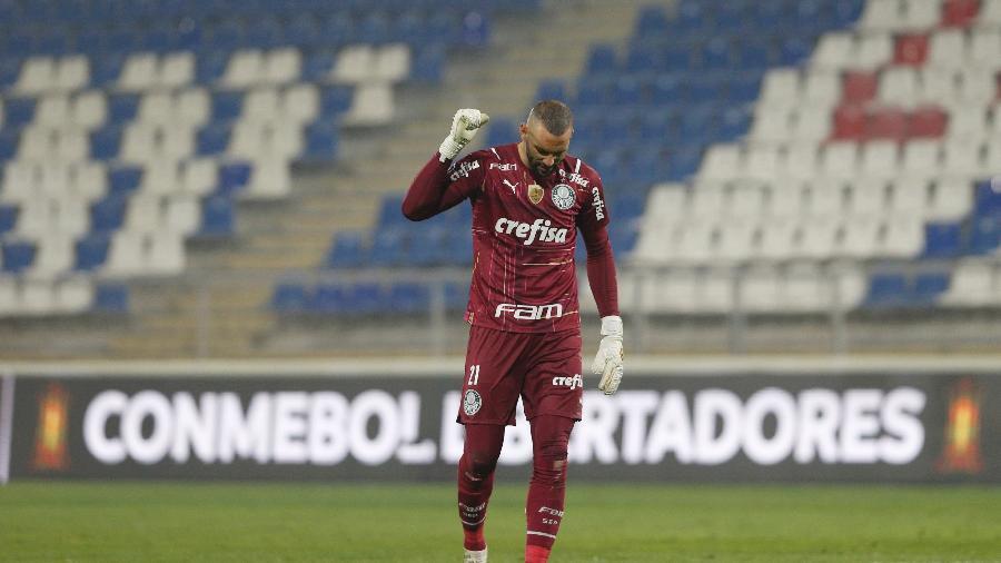 Weverton, durante partida do Palmeiras contra a Universidad Católica (CHI)  - Staff Images / CONMEBOL