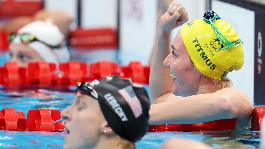 Ariarne Titmus bate Katie Ledecky e fatura o ouro nos 400m livre - Tom Pennington/Getty Images