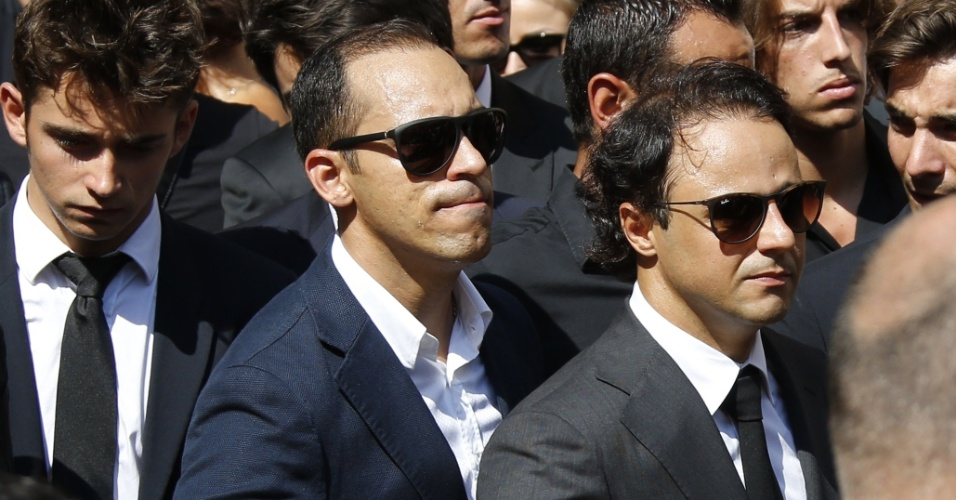 Felipe Massa esteve entre os pilotos que foram a Nice para uma homenagem a Jules Bianchi