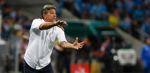 O técnico Renato Gaúcho poderá estar no reservado na final da Copa do Brasil