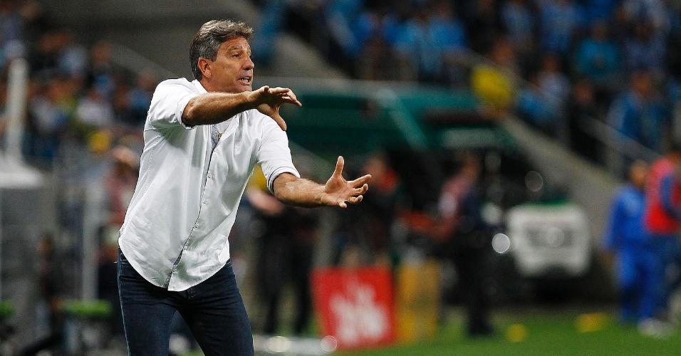 O técnico Renato Gaúcho durante jogo do Grêmio contra o Cruzeiro