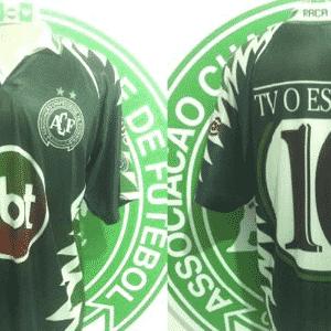 Não foi só o Vasco que já teve o símbolo do SBT na camisa: a Chapecoense foi patrocinada pela emissora em 1998 - Reprodução/Marcelo Camisas Chapecó