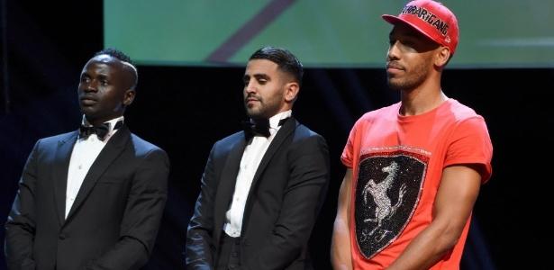 Sadio Mane, Riyad Mahrez,e Pierre-Emerick Aubameyang participaram da eleção do melhor do mundo. Aubameyang teve mala extraviada e foi ao evento de boné e camiseta