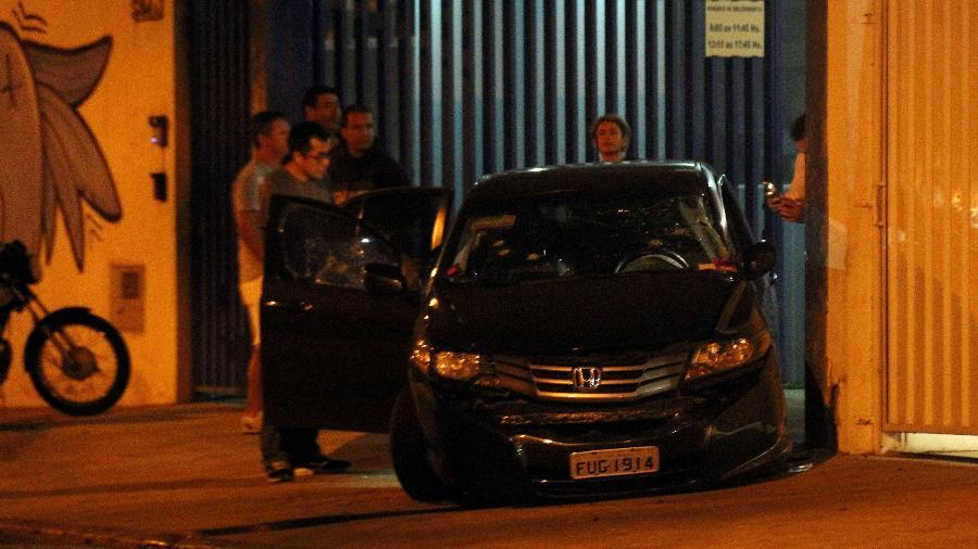 Carro de Moacir Bianchi, assassinado em emboscada em 2017 em São Paulo - Edison Timoteo/Futura Press/Estadão Conteúdo