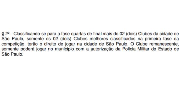 Regulamento Campeonato Paulista - Reprodução - Reprodução