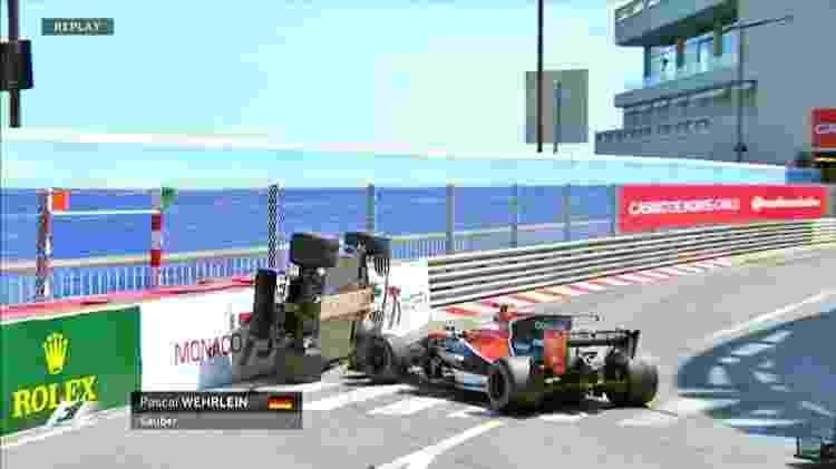Pasca Wehrlein fica de lado após toque de Jenson Button no GP de Mônaco - Reprodução - Reprodução