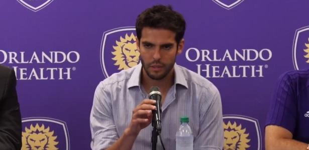 Kaká durante entrevista coletiva nesta quarta-feira, nos Estados Unidos