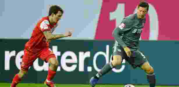 Robert Lewandowski, do Bayern de Munique, durante Copa Telekom - Ulrich Hufnagel