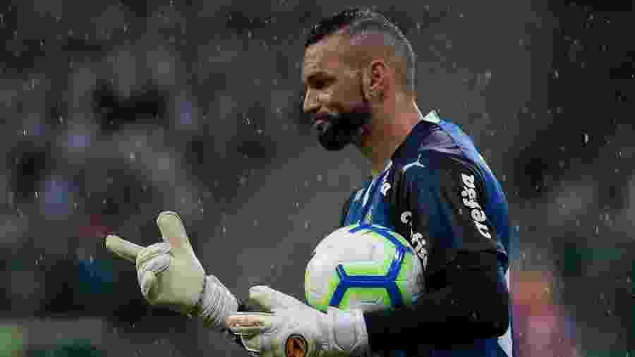 Weverton está de volta da seleção e vai retornar à meta do Palmeiras amanhã - Marcello Zambrana/AGIF