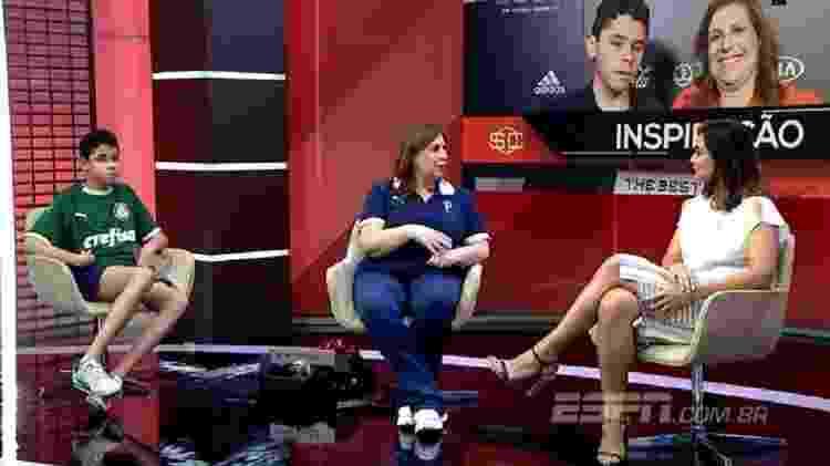 Silvia Greco (centro), Nikolas e Marcela Rafael no SportsCenter - Reprodução - Reprodução