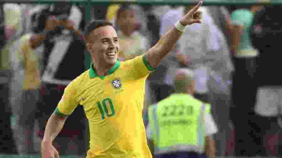 João Peglow comemora seu gol na estreia do Brasil na Copa do Mundo Sub-17 - REUTERS/Sergio Moraes