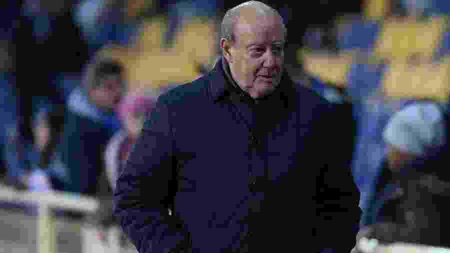 Presidente do Porto, Jorge Nuno Pinto da Costa é fotografado antes de jogo contra o Estoril - Gualter Fatia/Getty Images