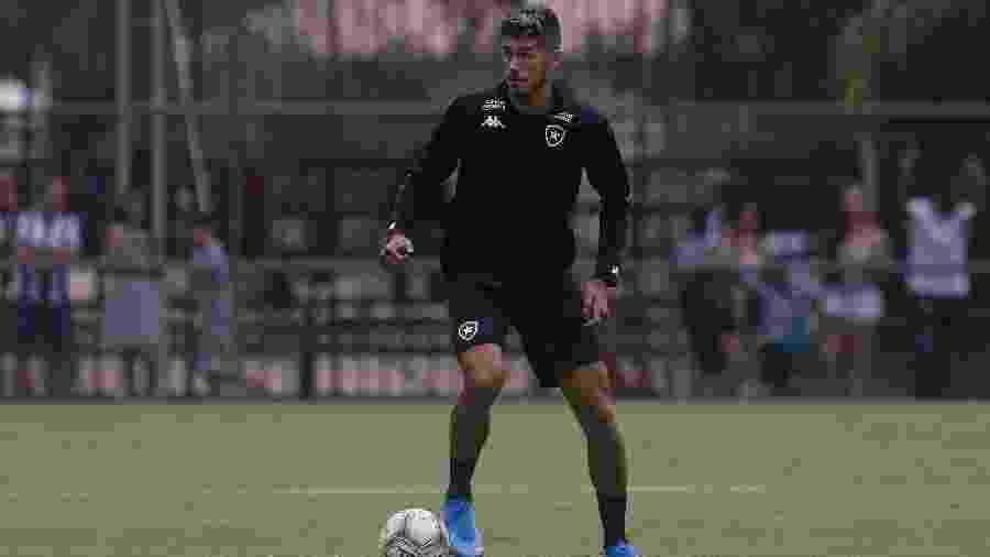 Centroavante Pedro Raúl tem feito bons treinamentos na pré-temporada e assumiu titularidade no Botafogo - Vitor Silva/Botafogo