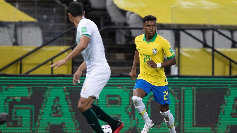 Rodrygo seria titular do Brasil se seleção fosse por preço dos jogadores - Lucas Figueiredo/CBF