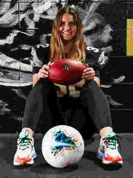 Sarah Fuller é a primeira mulher a jogar pela elite do futebol americano universitário - Reprodução/Twitter - Reprodução/Twitter