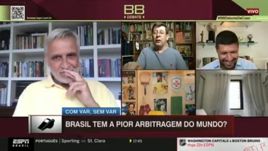 William Tavares e Felippe Facincani abandonam programa após graça de Sormani - Reprodução/ESPN