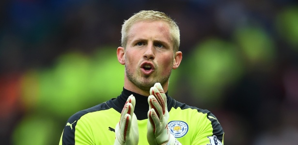 Kasper Schmeichel, goleiro do Leicester City - Laurence Griffiths/Getty Images