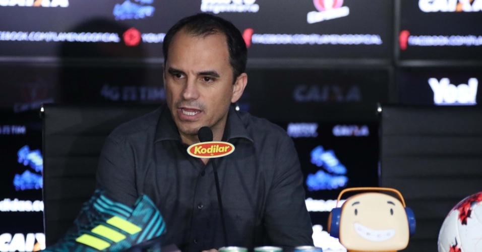 O diretor executivo Rodrigo Caetano está desde dezembro de 2014 no Flamengo