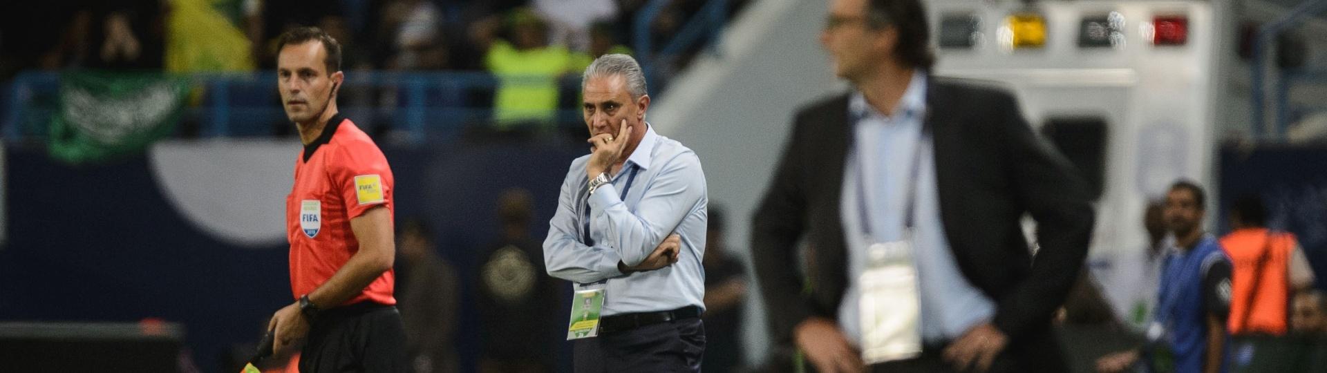 Técnico Tite comanda seleção brasileira em amistoso contra a Arábia Saudita