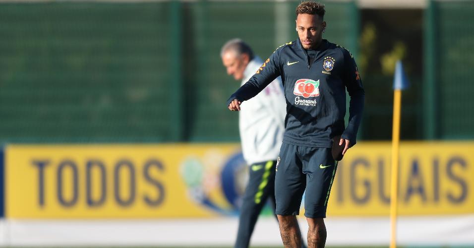 Neymar seleção brasileira treino