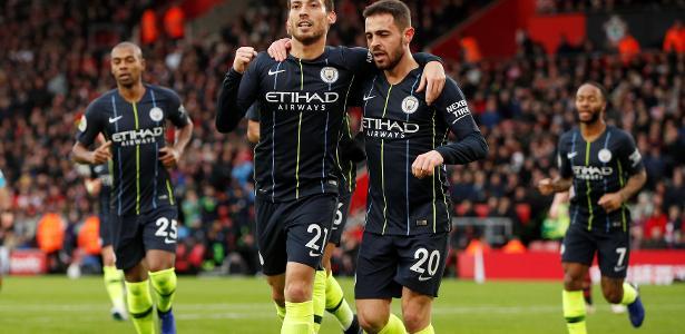 Gols no primeiro tempo decidiram a favor do City diante do Southampton - Reuters/John Sibley