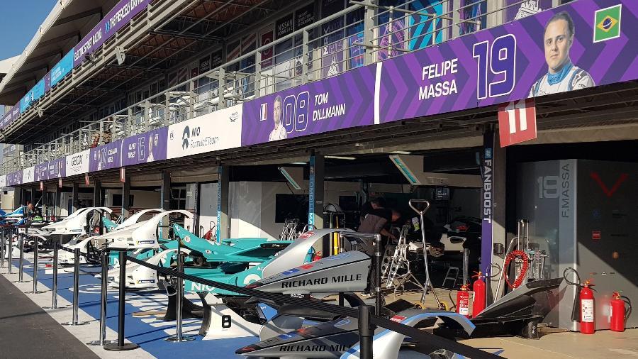 Boxes na Fórmula E em Marrakesh - Julianne Cerasoli