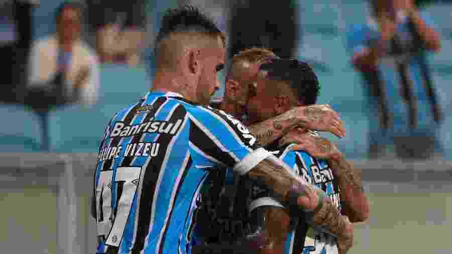 Marinho, Luan, Everton e Felipe Vizeu somam 14 gols marcados na temporada - EVERTON SILVEIRA/AGÊNCIA FREE LANCER/ESTADÃO CONTEÚDO