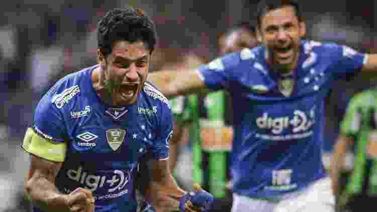 Lèo Cruzeiro gol Fred Campeonato Mineiro - Thomás Santos/Agif - Thomás Santos/Agif