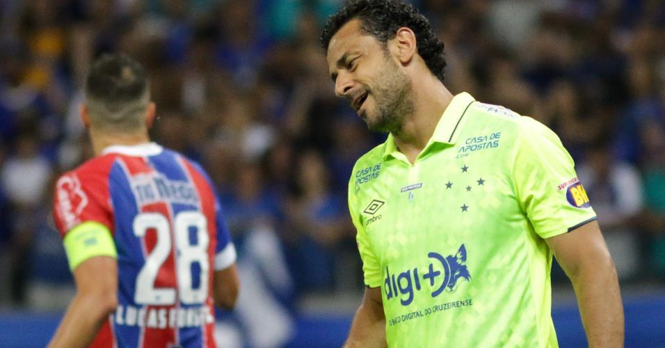 Fred lamenta chance perdida pelo Cruzeiro contra o Bahia